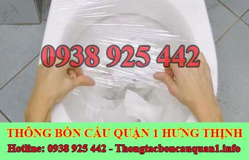 Thông bồn cầu bị nghẹt giấy giá rẻ LH 0938925442