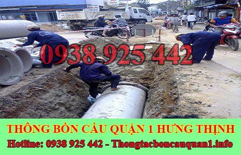 Đào, lắp đặt cống thoát nước quận 1 giá rẻ LH 0935115542