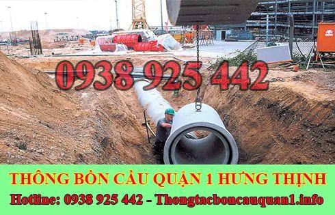 Đào, lắp đặt cống thoát nước quận 1 giá rẻ LH 0938925442