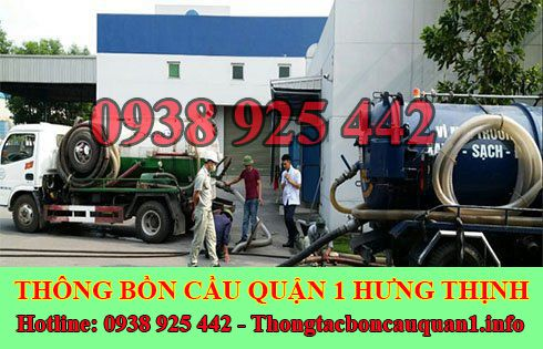 Dịch vụ hút hầm cầu quận 1 giá rẻ LH 0935115542