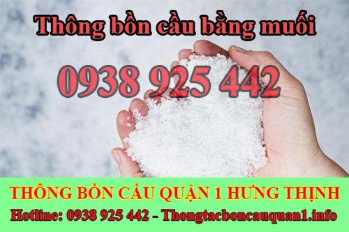 Thông bồn cầu bằng muối đạt hiệu quả cao ngay tại nhà