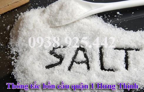 Thông bồn rửa mặt lavabo bằng muối