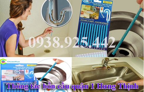 Cách thông bồn rửa mặt bằng que thông cống
