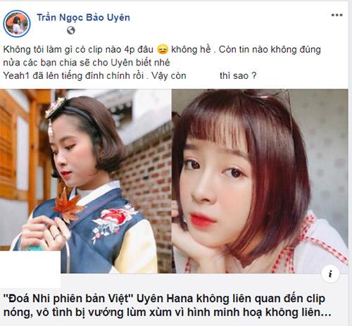 Đóa Nhi phiên bản Việt lộ clip 4p ? Cô lên tiếng sau sự cố ?